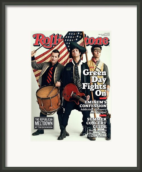 Rolling Stone Cover - Volume #1079 - 5/28/2009 - Green Day Framed Print By Sam Jones