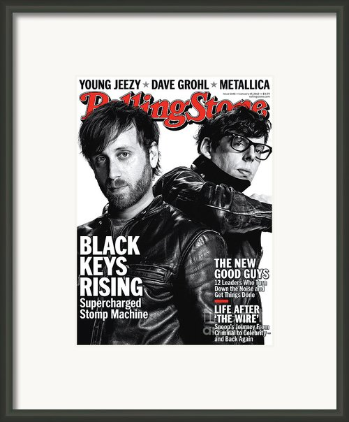 Rolling Stone Cover - Volume #1148 - 1/19/2012 - Black Keys Framed Print By Theo Wenner