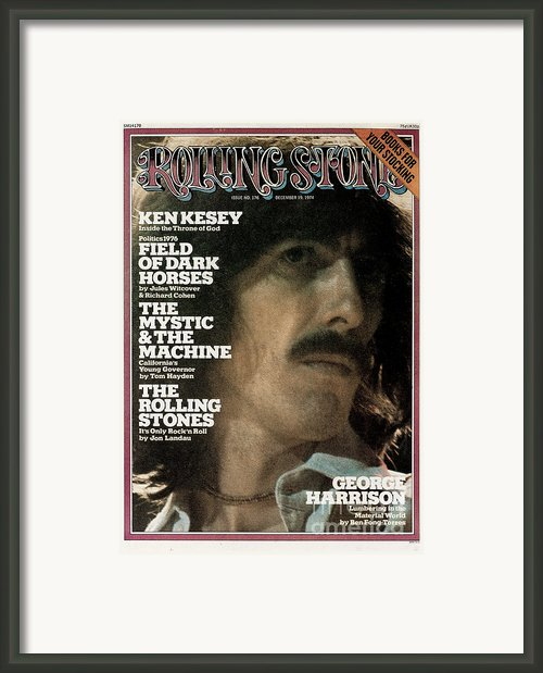 Rolling Stone Cover - Volume #176 - 12/19/1974 - George Harrison Framed Print By Mark Focus