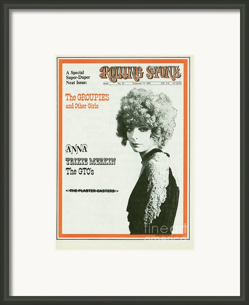 Rolling Stone Cover - Volume #27 - 2/15/1969 - Groupies - Karen Seltenriech Framed Print By Baron Wolman
