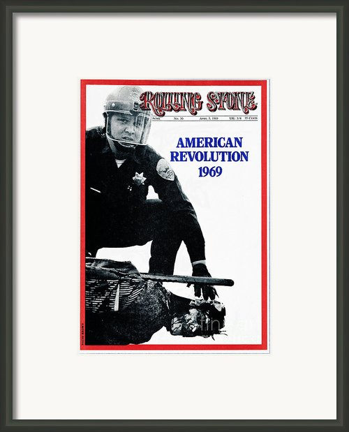 Rolling Stone Cover - Volume #30 - 4/5/1969 - American Revolution 1969 Framed Print By Nacio Brown