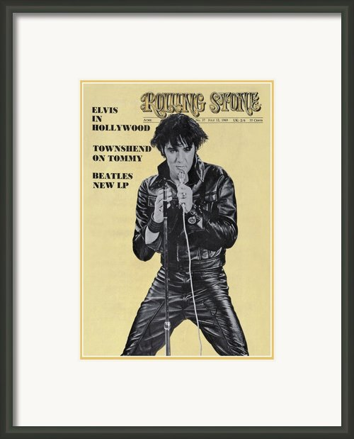Rolling Stone Cover - Volume #37 - 7/12/1969 - Elvis Presley Framed Print By Unknown