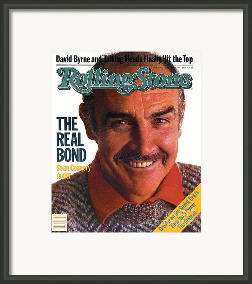 Rolling Stone Cover - Volume #407 - 10/27/1983 - Sean Connery Framed Print By David Montgomery