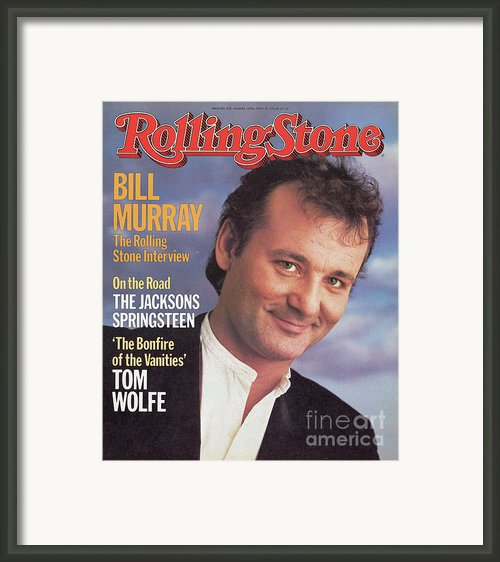 Rolling Stone Cover - Volume #428 - 8/16/1984 - Bill Murray Framed Print By Barbara Walz