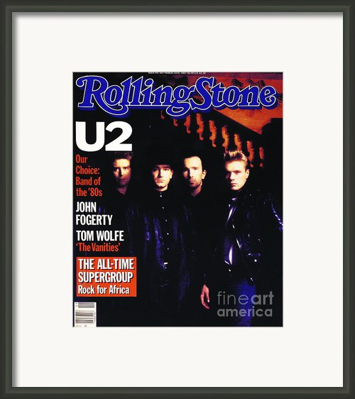 Rolling Stone Cover - Volume #443 - 3/15/1985 - U2 Framed Print By Rebecca Blake