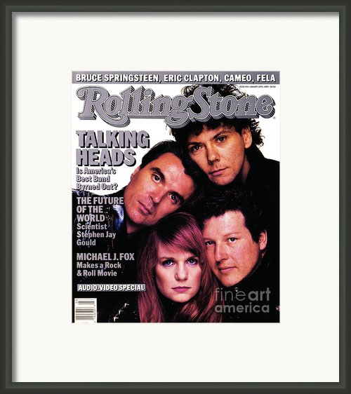 Rolling Stone Cover - Volume #491 - 1/15/1987 - Talking Heads Framed Print By Richard Corman
