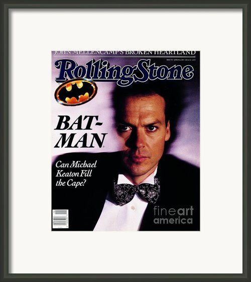 Rolling Stone Cover - Volume #555 - 6/29/1989 - Michael Keaton Framed Print By Bonnie Schiffman
