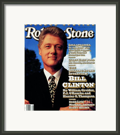 Rolling Stone Cover - Volume #639 - 9/17/1992 - Bill Clinton Framed Print By Mark Seliger