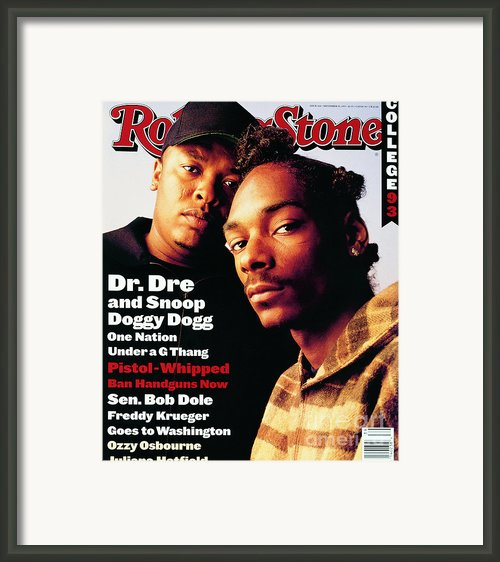 Rolling Stone Cover - Volume #666 - 9/30/1993 - Dr. Dre And Snoop Doggy Dog Framed Print By Mark Seliger