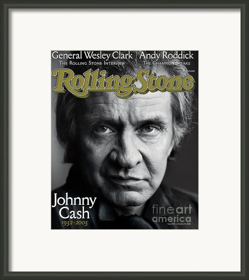 Rolling Stone Cover - Volume #933 - 10/16/2003 - Johnny Cash Framed Print By Mark Seliger