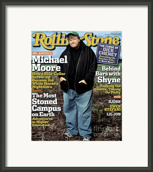 Rolling Stone Cover - Volume #957 - 9/16/2004 - Michael Moore Framed Print By Albert Watson