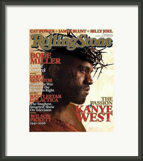 Rolling Stone Cover - Volume #993 - 2/9/2006 - Kanye West Framed Print By David Lachapelle