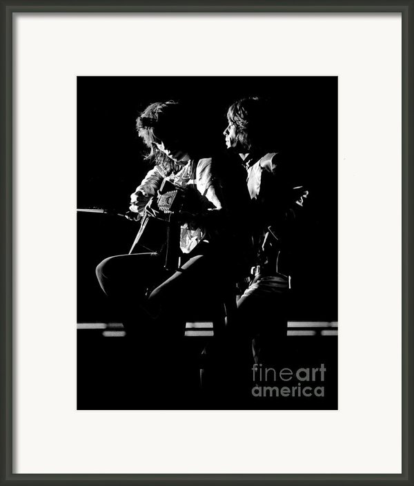 Rolling Stones Mick And Keith 1970 Framed Print By Chris Walter