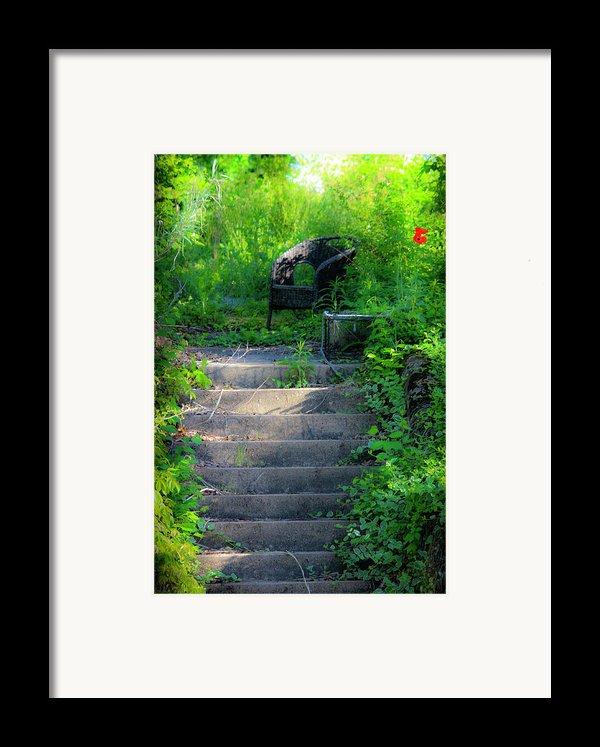 Romantic Garden Scene Framed Print By Teresa Mucha