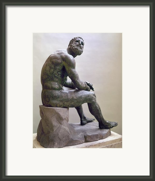 Rome Boxer Sculpture Framed Print By Granger