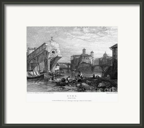 Rome: Ponte Rotto, 1833 Framed Print By Granger