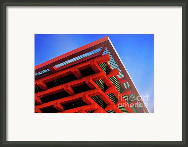 Roof Corner - Expo China Pavilion Shanghai Framed Print By Christine Till