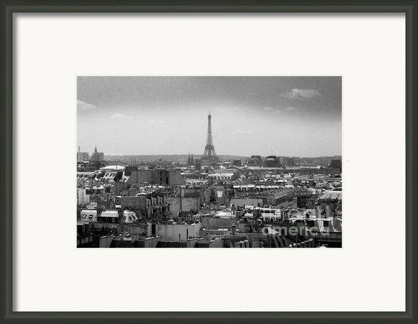 Roof Of Paris. France Framed Print By Bernard Jaubert