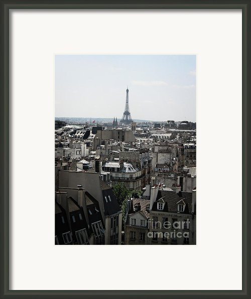 Roofs Of Paris. France Framed Print By Bernard Jaubert