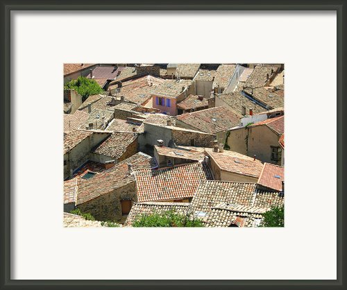 Roofs Of Provence Framed Print By Bernard Gaillot