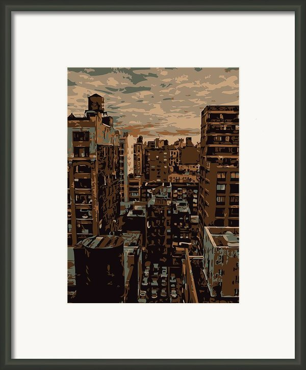 Rooftop Color 6 Framed Print By Scott Kelley