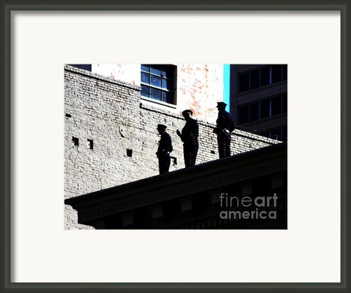 Rooftop Cops Framed Print By Wingsdomain Art And Photography