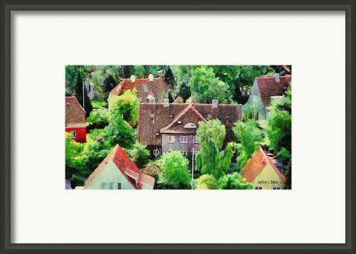 Rooftops Framed Print By Jeff Kolker