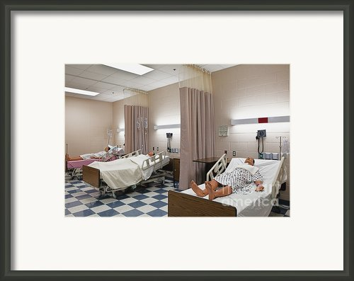 Room In Nursing School Framed Print By Skip Nall