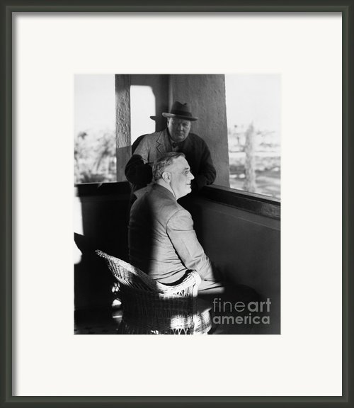 Roosevelt And Churchill Framed Print By Granger