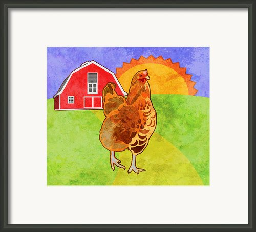 Rooster Framed Print By Mary Ogle