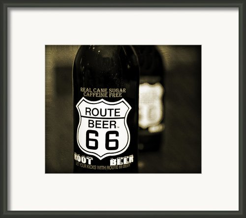 Root Beer Framed Print By Malania Hammer