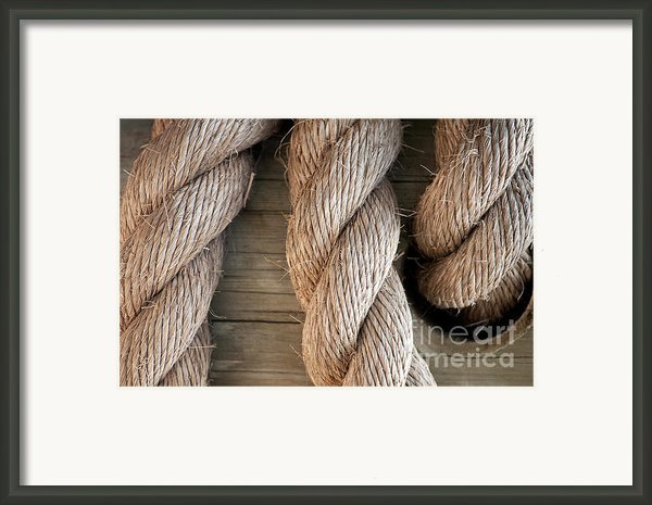 Rope In A Hole Framed Print By Dan Holm