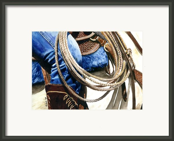 Rope Framed Print By Nadi Spencer