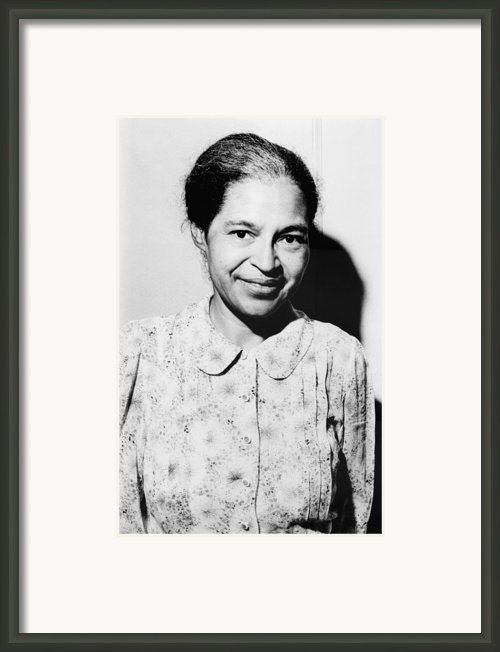 Rosa Parks Was A Member Of The Naacp Framed Print By Everett