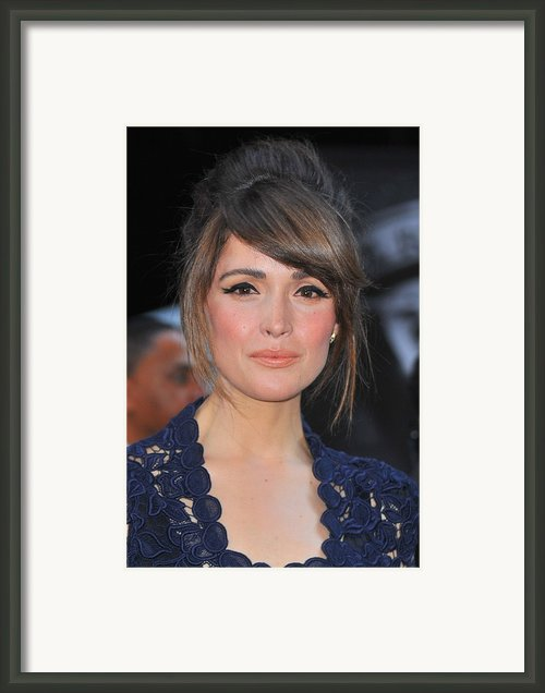 Rose Byrne At Arrivals For X-men First Framed Print By Everett