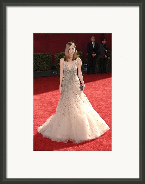 Rose Byrne Wearing A Valentino Gown Framed Print By Everett
