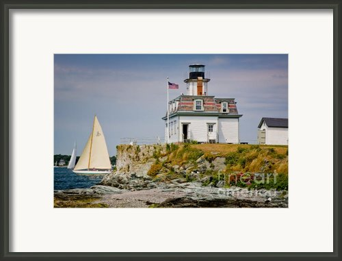 Rose Island Light Framed Print By Susan Cole Kelly