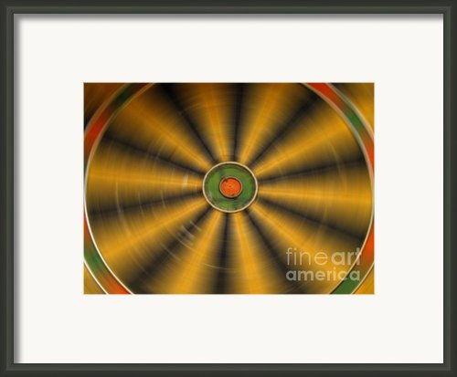Rotating Dartboard Framed Print By Yali Shi