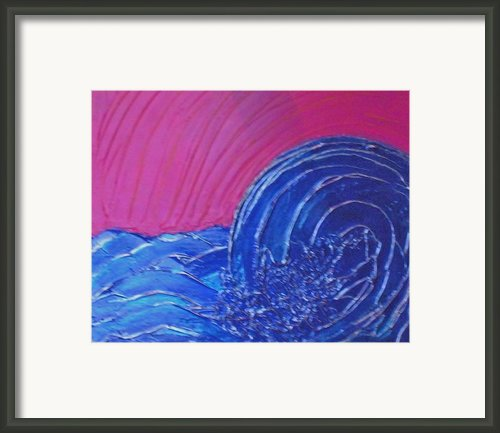 Rough Waters Framed Print By Tami Bush