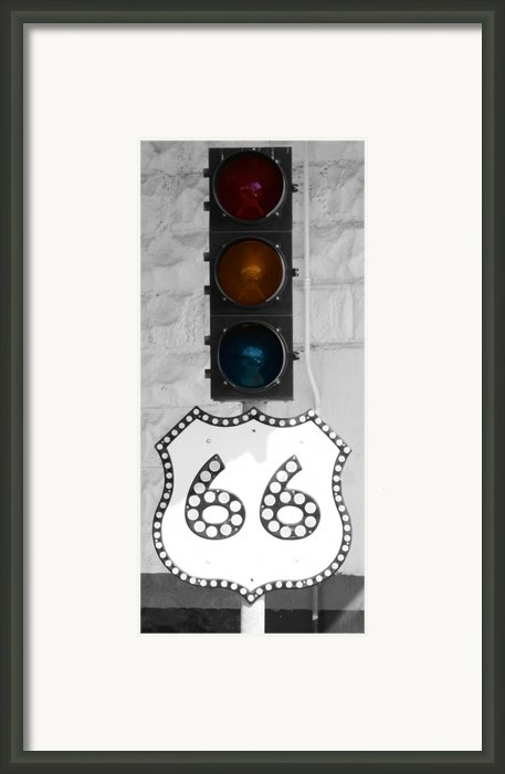 Route 66 Framed Print By Karen M Scovill