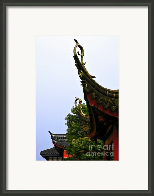 Row Of Chinese Rooftops Framed Print By Christine Till