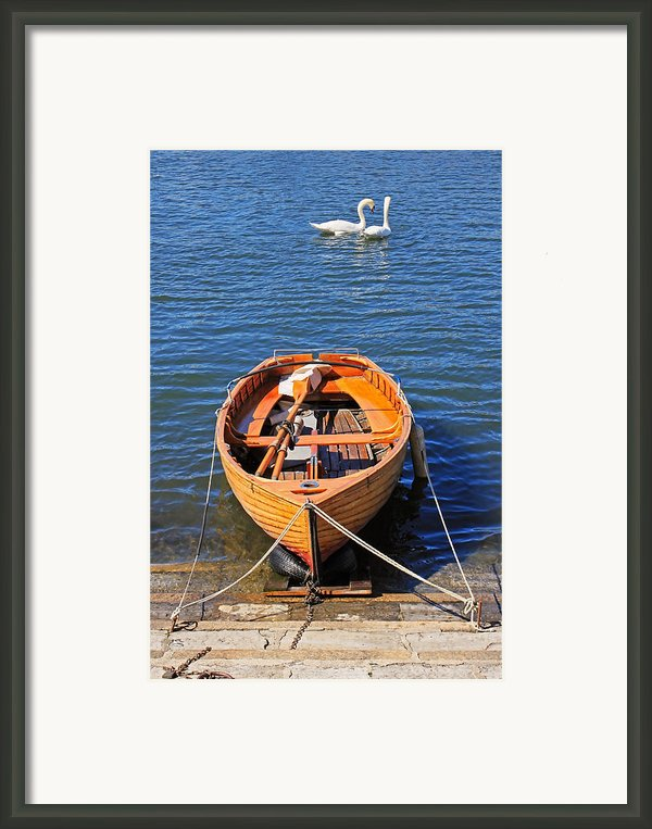 Rowboat Framed Print By Joana Kruse