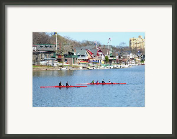 Rowing Along The Schuylkill River Framed Print By Bill Cannon