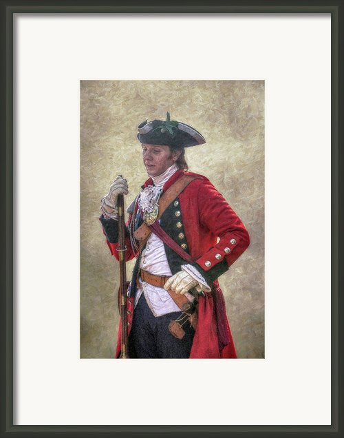 Royal Americans Officer Portrait  Framed Print By Randy Steele