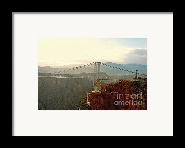 Royal Gorge Bridge Colorado - Take A Walk Across The Sky Framed Print By Christine Till