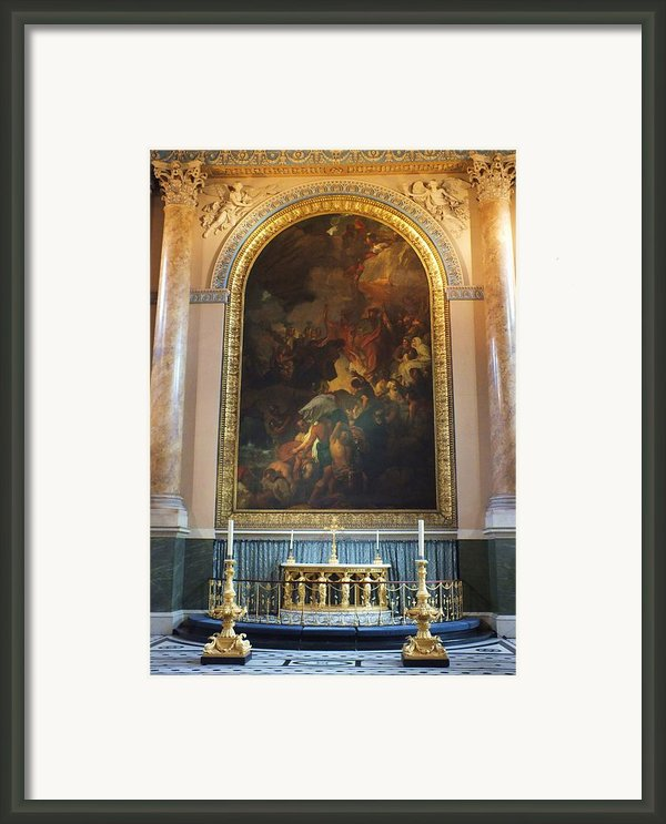 Royal Naval Chapel Interior Framed Print By Anna Villarreal Garbis