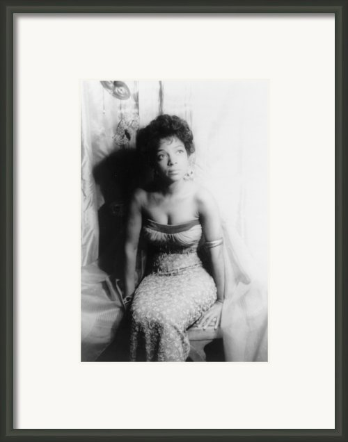 Ruby Dee, Portrait By Carl Van Vechten Framed Print By Everett
