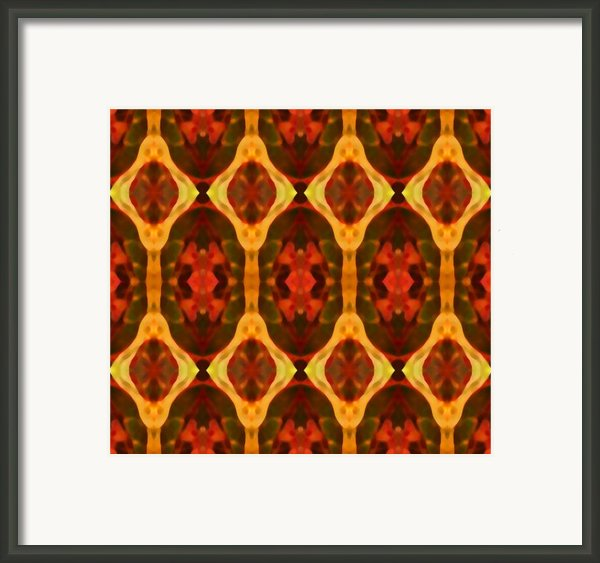 Ruby Glow Pattern Framed Print By Amy Vangsgard