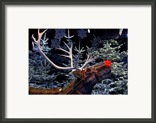 Rudolph With Your Nose So Bright Framed Print By Keenpress