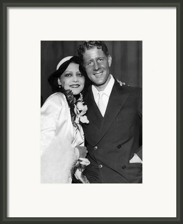 Rudy Vallee Right, And His Wife, Fay Framed Print By Everett